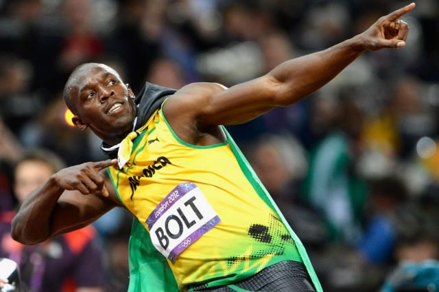 Usain Bolt of Jamaica celebrates-1373492
